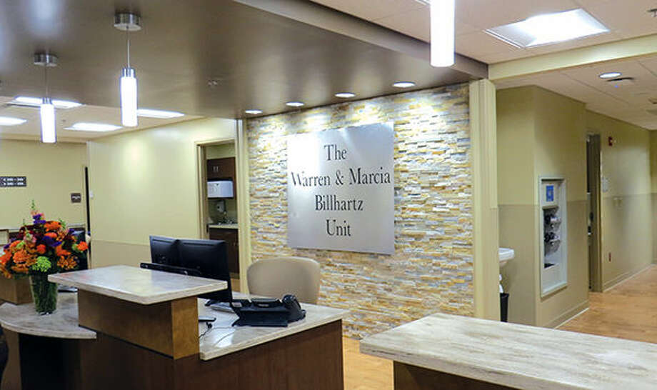 The nurse's station at The Warren and Marcia Billhartz Unit at Anderson Hospital.