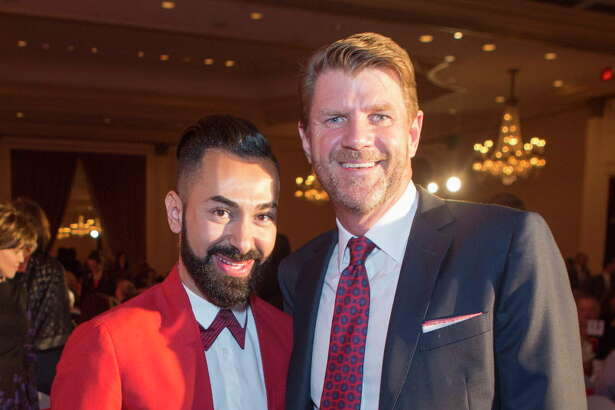(LtoR) Fady Armanious and Bill Baldwin during the 2016 World AIDS Day luncheon at the Hilton Houston Post Oak, Thursday, Dec. 1, 2016.
