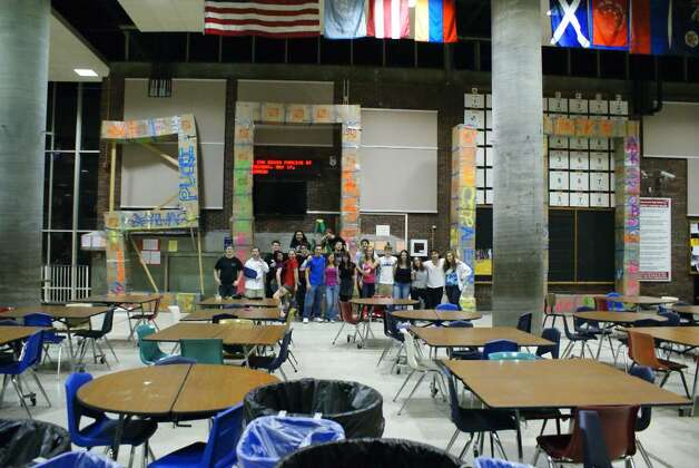 For the 2010 Greenwich High School senior prank, students assembled ...
