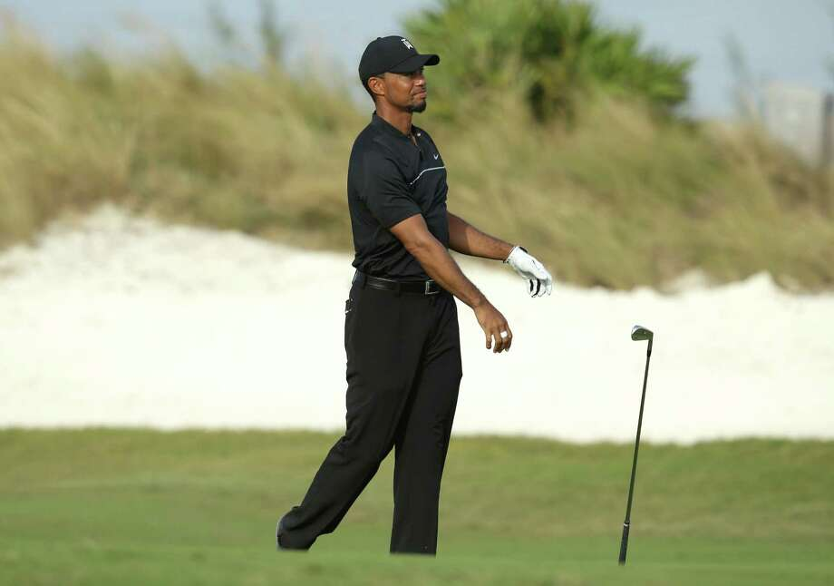 After shooting a 33 on the front nine, Tiger Woods' first competitive round in 15 months turned into an exercise in frustration on the back nine of the Hero World Challenge at Nassau, Bahamas, as he closed with a 40 to finish with a 1-over-par 73. Photo: Lynne Sladky, STF / Copyright 2016 The Associated Press. All rights reserved.