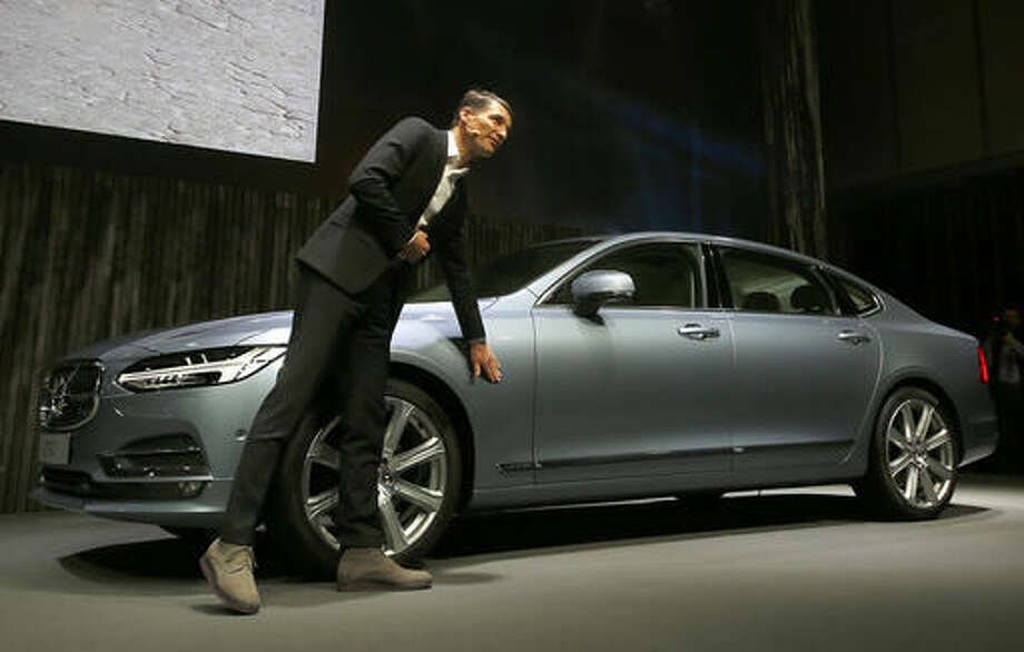 Thomas Ingenlath Vice President Of Volvo Cars Design Shows A New S90 Car