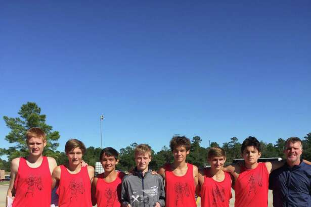 Shown here are members of the College Park Cross Country Club team that took second place at the Nike Cross South Meet at Bear Branch Park in November. From left is Rob Kraus, Brad Pease, Byrron Rowell, Bryce Quigley, Alessandro Topini, Brian Swartley and coach Mike Gibson.