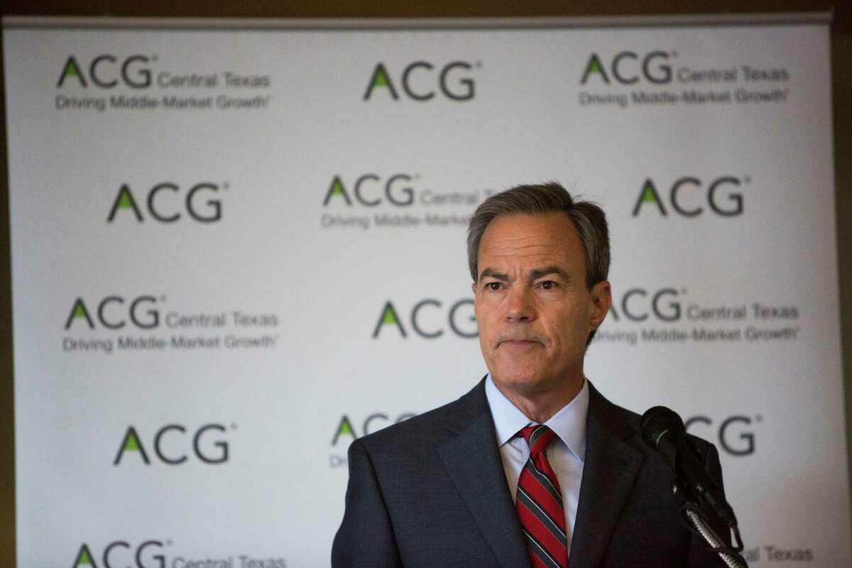 Speaker of the Texas House of Representatives Joe Straus speaks at a Association for Corporate Growth luncheon at the Plaza Club in San Antonio, Texas on September 27, 2016.