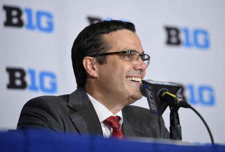 Nebraska head coach Tim Miles speaks at a press conference during Big Ten NCAA college basketball media day, Thursday, Oct. 13, 2016, in Washington. (AP Photo/Nick Wass)