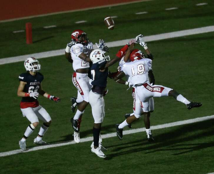 When Atascocita and North Shore met for the first time this season in their District 21-6A matchup, Atascocita's Griffin Hammond (88) was on the receiving end of a Hail Mary pass for a touchdown in the second half.