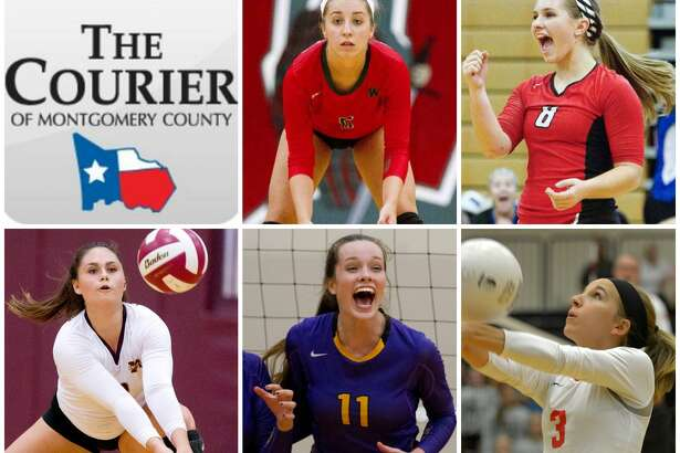 From top left: The Woodlands' Mia Primavera, Oak Ridge's Raigen Cianciulli, Magnolia West's Nicole Grant, Montgomery's Mallory Talbert and Porter's Laura Tonchina are The Courier's nominees for Defensive MVP.