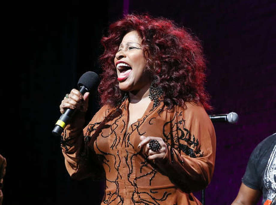 "FILE - In this Oct. 24, 2014, file photo, Chaka Khan performs at the 13th annual ""A Great Night in Harlem"" gala concert in New York. Khan is one of the featured performers who will pay tribute to Prince at a Minnesota concert Thursday night Oct. 13, 2016. (Photo by Mark Von Holden/Invision/AP, File)"