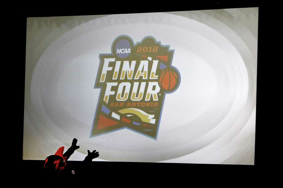 The 2018 NCAA Men's Final Four Logo is introduced at the Unveiling & Pep Rally Kick Off Road to San Antonio on Dec. 1, 2016, inside the gym at Mission Concepcion Sports Park. Photo: Ron Cortes /For The Express-News / Freelance
