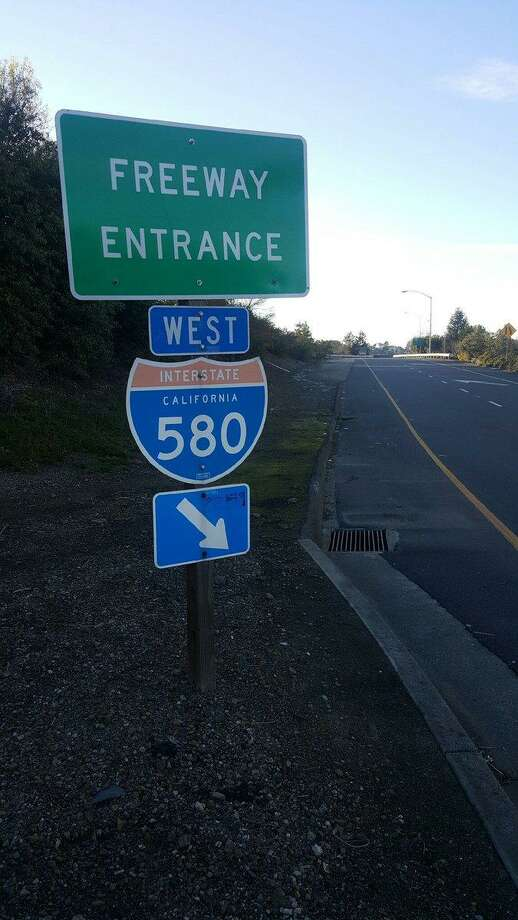Investigators with the California State Highway Patrol temporarily closed the on-ramp Thursday to Interstate 580 at Canal Boulevard in Oakland to investigate a suspected shooting. Photo: California Highway Patrol / California Highway Patrol