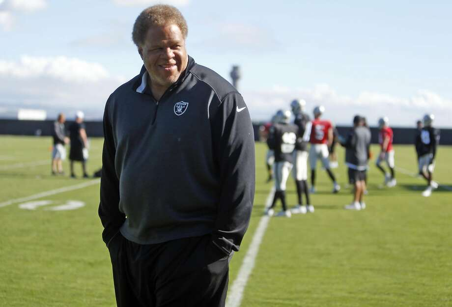 """General manager Reggie McKenzie says the Raiders seemed to turn a corner when they won three of their final six games after an 0-10 start that """"was not pretty"""" in 2014. Photo: Scott Strazzante, The Chronicle"""