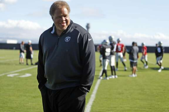 Oakland Raiders' General Manager Reggie McKenzie at practice in Oakland, Calif., on Wednesday, October 28, 2015.