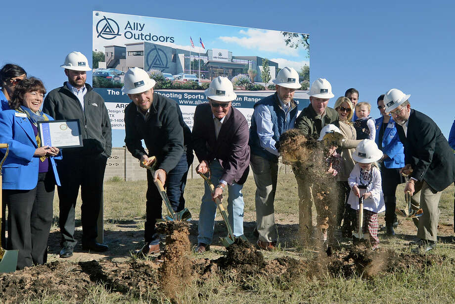 Groundbreaking ceremony for the Ally Outdoors gun range and retail space on Thursday, Dec. 1, 2016. James Durbin/Reporter-Telegram Photo: James Durbin