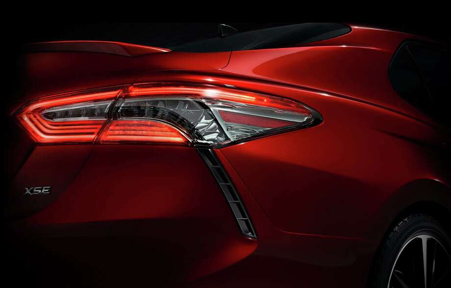 Toyota released a teaser photo of the 2018 Camry, revealing a sportier appearance. Camry sales are down, but it remains the nation's top-selling sedan. Photo: HONS / Toyota