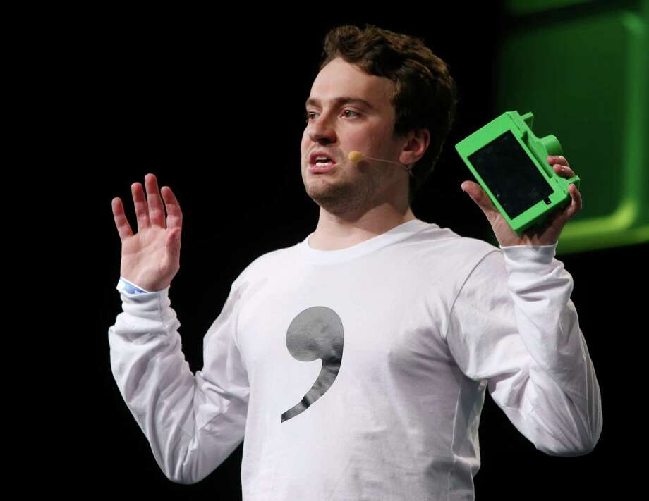 Comma.ai CEO George Hotz speaks at the TechCrunch Disrupt conference in San Francisco, Calif. on Tuesday, Sept. 13, 2016. Photo: Paul Chinn, Staff / ONLINE_YES