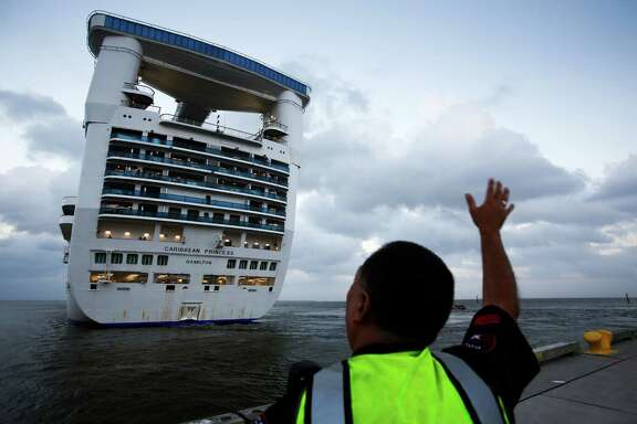"""The Caribbean Princess departs from the Bayport Cruise Terminal in 2013. Princess said it was """"extremely disappointed about the inexcusable actions"""" of employees in its pollution case."""