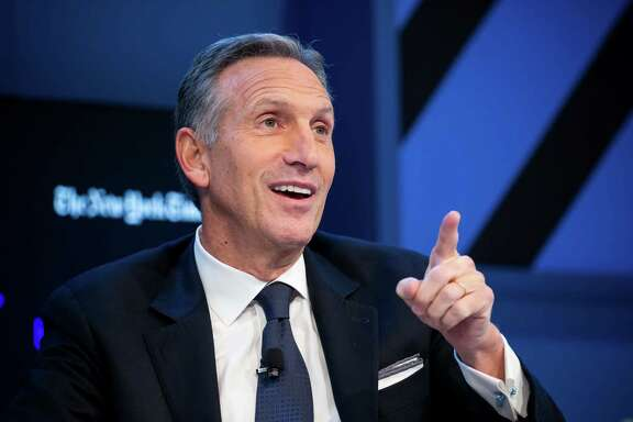 Howard Schultz, chairman and chief executive officer of Starbucks Corp., speaks during the New York Times DealBook conference in New York, U.S., on Thursday, Nov. 10, 2016. The event brings together CEOs, leading figures in finance, and experts from diverse industries to assess the challenges and opportunities that will define the deal world of tomorrow. Photographer: Michael Nagle/Bloomberg