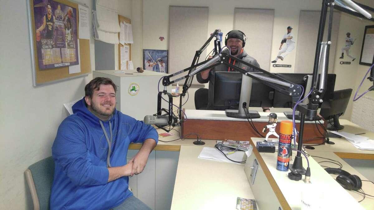 Jeff Levack, right, and Tom Goslowski, co-hosts of the