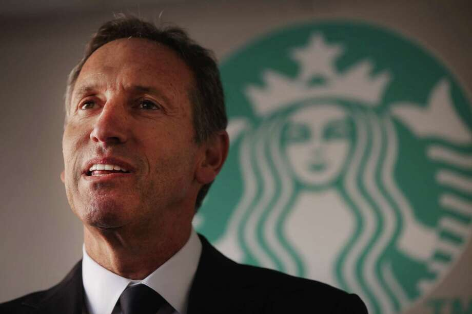 FILE - DECEMBER 1, 2016: It has been reported that Howard Schultz is stepping down as Starbucks CEO to focus on opening high-end shops for the company. NEW YORK, NY - OCTOBER 04:  Starbucks CEO Howard Schultz speaks at an event celebrating a new partnership between Starbucks and non-profit groups in New York City and Los Angeles to assist in offsetting government funding cuts to programs for children and education on October 4, 2011 in New York City. Two Starbucks stores, one in Harlem and one in Los Angeles' Crenshaw district, will share profits with the partner non-profit groups the Abyssinian Development Corporation and the Los Angeles Urban League. Each group will receive at least $100,000 in the first year, the company said.  (Photo by Spencer Platt/Getty Images) ORG XMIT: 128149702 Photo: Spencer Platt / 2011 Getty Images