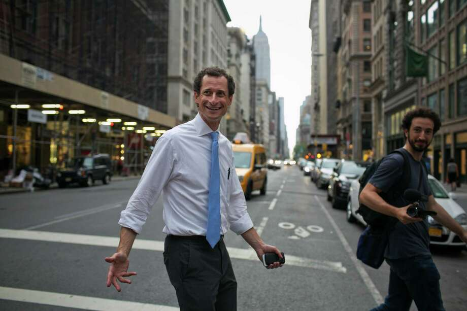 FILE N Anthony Weiner heads home after campaigning for mayor, in Manhattan, July 2, 2013. The disgraced former congressman was fined $65,000 by the New York City Campaign Finance Board, for violations stemming from his 2013 run for mayor; Weiner was also told to return his campaignOs remaining balance of $195,000 N unspent public matching funds N on Dec. 1, 2016. (Todd Heisler/The New York Times) ORG XMIT: XNYT192 Photo: TODD HEISLER / NYTNS