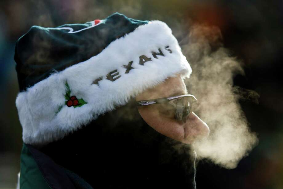 Texans fan Carl Tragesser can brag that he was in attendance for the coldest game in franchise history. It was 3 degrees at game time at Lambeau Field when the Texans used a late field goal to beat Green Bay on Dec. 7, 2008. Photo: Smiley N. Pool, Staff / © 2008 Houston Chronicle