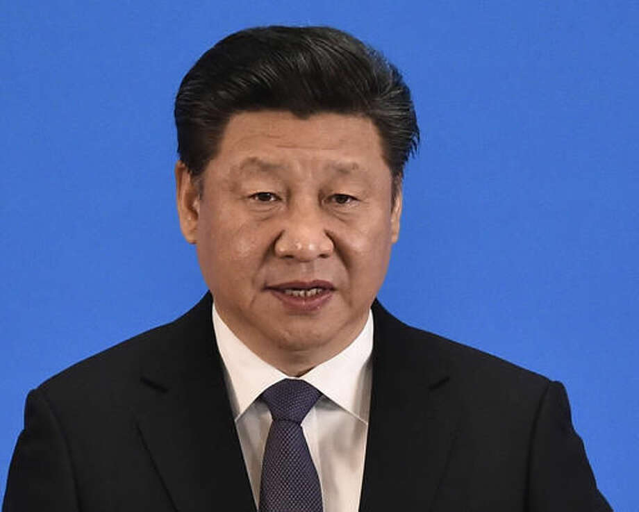 """FILE - In this April 28, 2016, file photo, Chinese President Xi Jinping delivers a speech at the opening ceremony of the fifth regular foreign ministers' meeting of the Conference on Interaction and Confidence Building Measures in Asia at the Diaoyutai State Guesthouse in Beijing. China's Communist Party has elevated Xi to the position of """"core"""" of the leadership, underscoring the overwhelming clout he has amassed on the back of a sweeping anti-corruption campaign and crackdown on dissent, the official Xinhua News Agency said late Thursday, Oct. 27, 2016. (Iori Sagisawa/Pool Photo via AP, File)"""