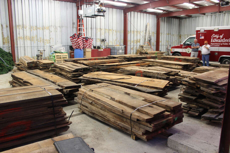 22 piles of wood were gathered from the site of the new public safety facility prior to construction. Both city officials and professional woodworkers will be using the wood for future city and community projects. Once the projects' plans are finalized, work is estimated to begin in January of 2017.