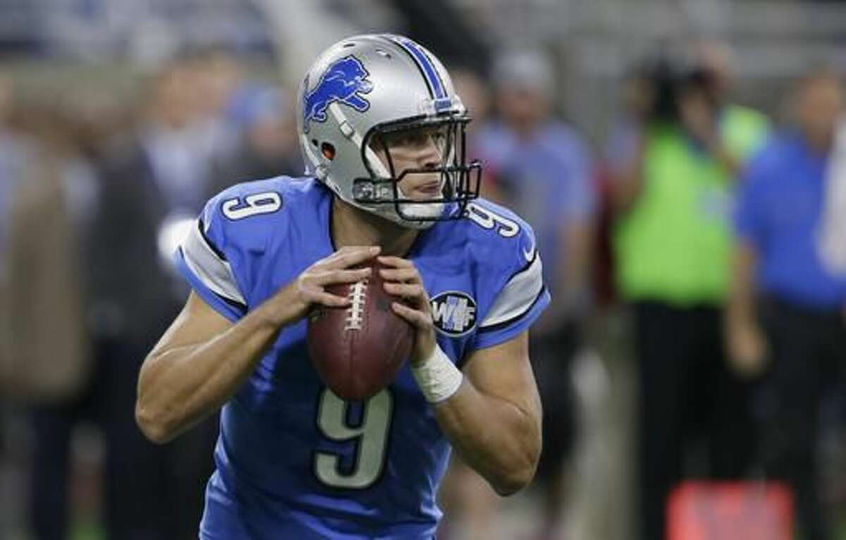Detroit Lions quarterback Matthew Stafford looks downfield during the first half of an NFL football game against the Washington Redskins, Sunday, Oct. 23, 2016 in Detroit. (AP Photo/Duane Burleson)