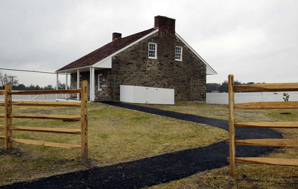 """This recently restored home of Mary Thompson in Gettysburg, Pa., served as Confederate Gen. Robert E. Lee's headquarters at Gettysburg, seen Thursday, Oct. 27, 2016. The 4-acre property had been privately owned ever since the Civil War's bloodiest battle, sprouting a motel, restaurant and other modern structures that dismayed preservationists and history buffs. James Lighthizer, president of Civil War Trust, says it was """"one of the most important unprotected historic buildings in America."""" (AP Photo/Timothy Jacobsen)"""