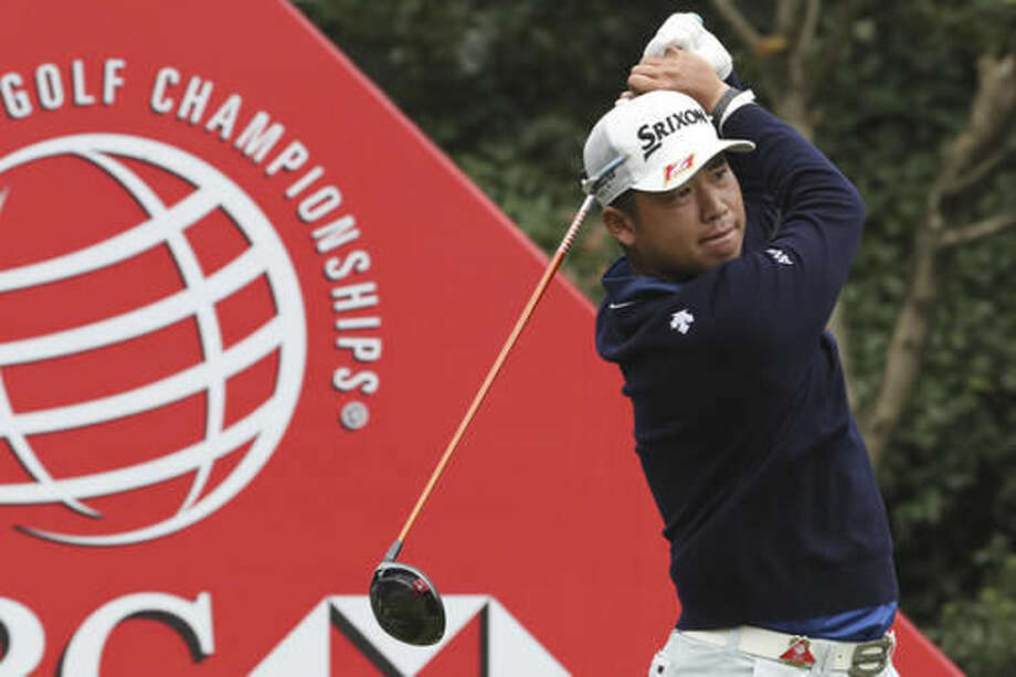 Japan's Hideki Matsuyama hits from tee during the 2016 WGC-HSBC Champions golf tournament at the Sheshan International Golf Club in Shanghai, China, Friday, Oct. 28, 2016. (AP Photo/Ng Han Guan)
