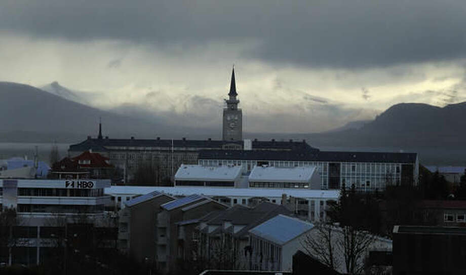 A general view over Reykjavik, Iceland, Thursday, Oct. 27, 2016. Parliamentary elections will be held in Iceland on Oct. 29, 2016, more than 250,000 voters are called to elect the new parliament, 63 members of the Althing.(AP Photo/Frank Augstein)