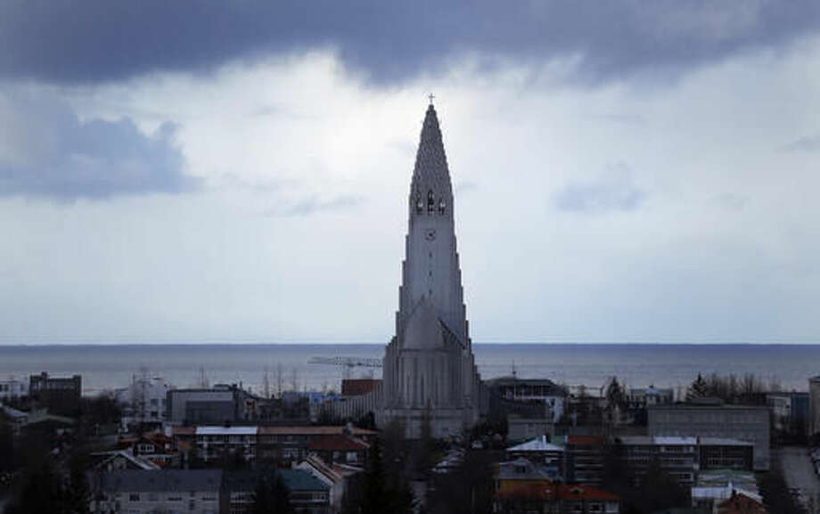 A general view over Reykjavik, Iceland, with the Hallgrimskirkja church in center, on Thursday, Oct. 27, 2016. Parliamentary elections will be held in Iceland on Oct. 29, 2016, more than 250,000 voters are called to elect the new parliament, 63 members of the Althing.(AP Photo/Frank Augstein)