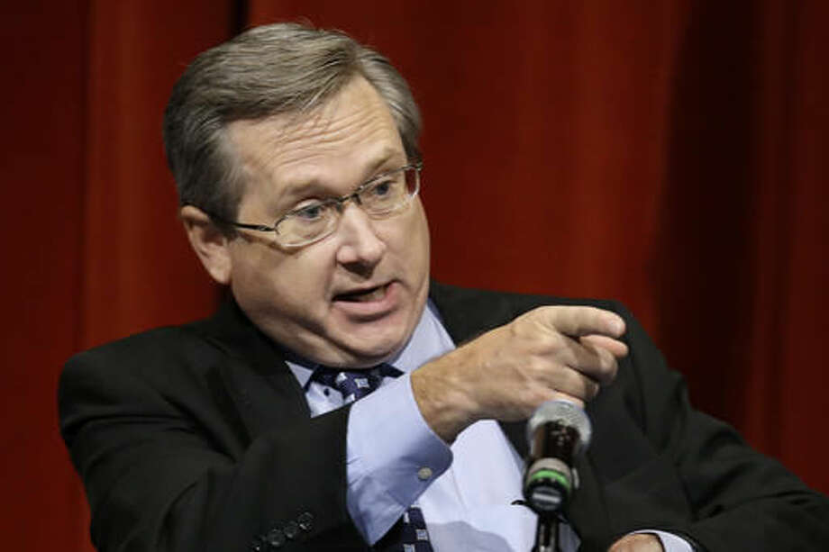 Republican U.S. Sen. Mark Kirk, answers questions during the first televised debate with Democratic U.S. Rep. Tammy Duckworth, in what's considered a crucial race that could determine which party controls the Senate, Thursday, Oct. 27, 2016, at the University of Illinois in Springfield, Ill. (AP Photo/Seth Perlman)