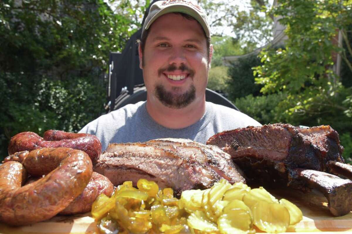 Grant Pinkerton, pitmaster/owner of Pinkerton's Barbecue, which will open for a preview on Dec. 3. The restaurant at 1504 Airline will reopen for full service on Dec. 10.