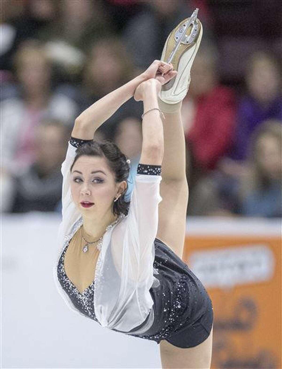Russia's Elizaveta Tuktamysheva performs in the ladies short program at Skate Canada International figure skating event, Friday, Oct. 28, 2016 in Mississauga, Ontario. (Frank Gunn/The Canadian Press via AP)