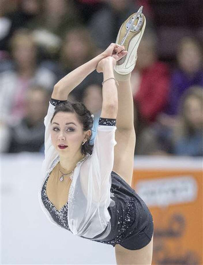 Russia's Elizaveta Tuktamysheva performs in the ladies short program at Skate Canada International figure skating event, Friday, Oct. 28, 2016 in Mississauga, Ontario. (Frank Gunn/The Canadian Press via AP)