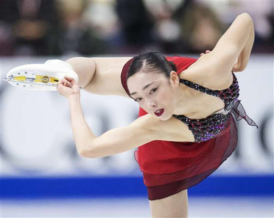 Japan's Rika Hongo performs in the ladies short program at Skate Canada International figure skating event, Friday, Oct. 28, 2016, in Mississauga, Ontario. (Frank Gunn/The Canadian Press via AP)