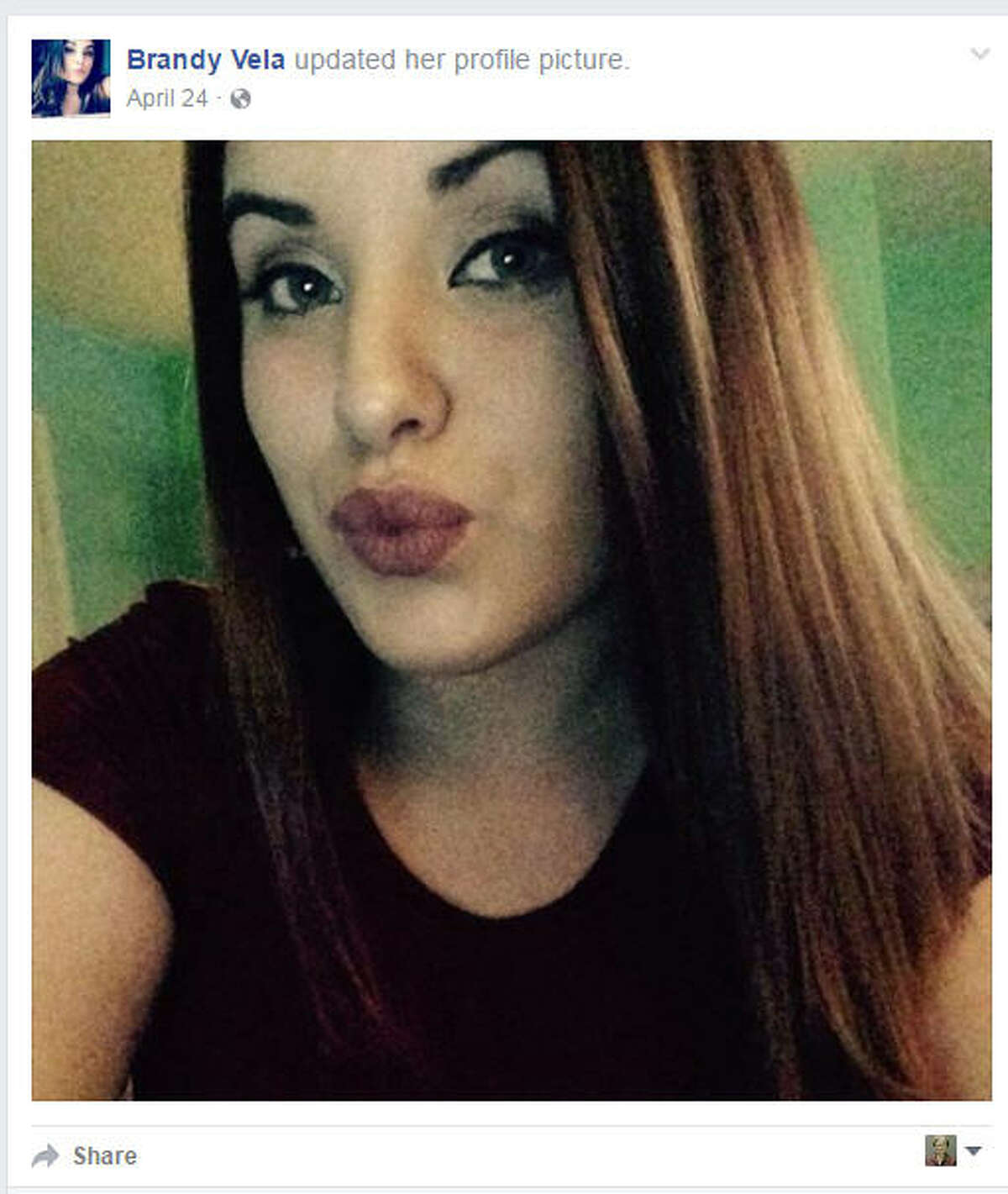 Brandy Vela, an 18-year-old Texas City High School senior, shot herself in the chest Nov. 29, 2016, at home in front of horrified family members who said she had endured relentless cyberbullying.(Facebook/Brandy Vela)