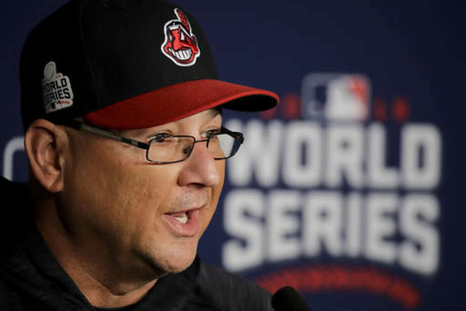 Cleveland Indians manager Terry Francona talks during a news conference for baseball's upcoming World Series against the Chicago Cubs on Monday, Oct. 24, 2016 in Cleveland. (AP Photo/Charlie Riedel)