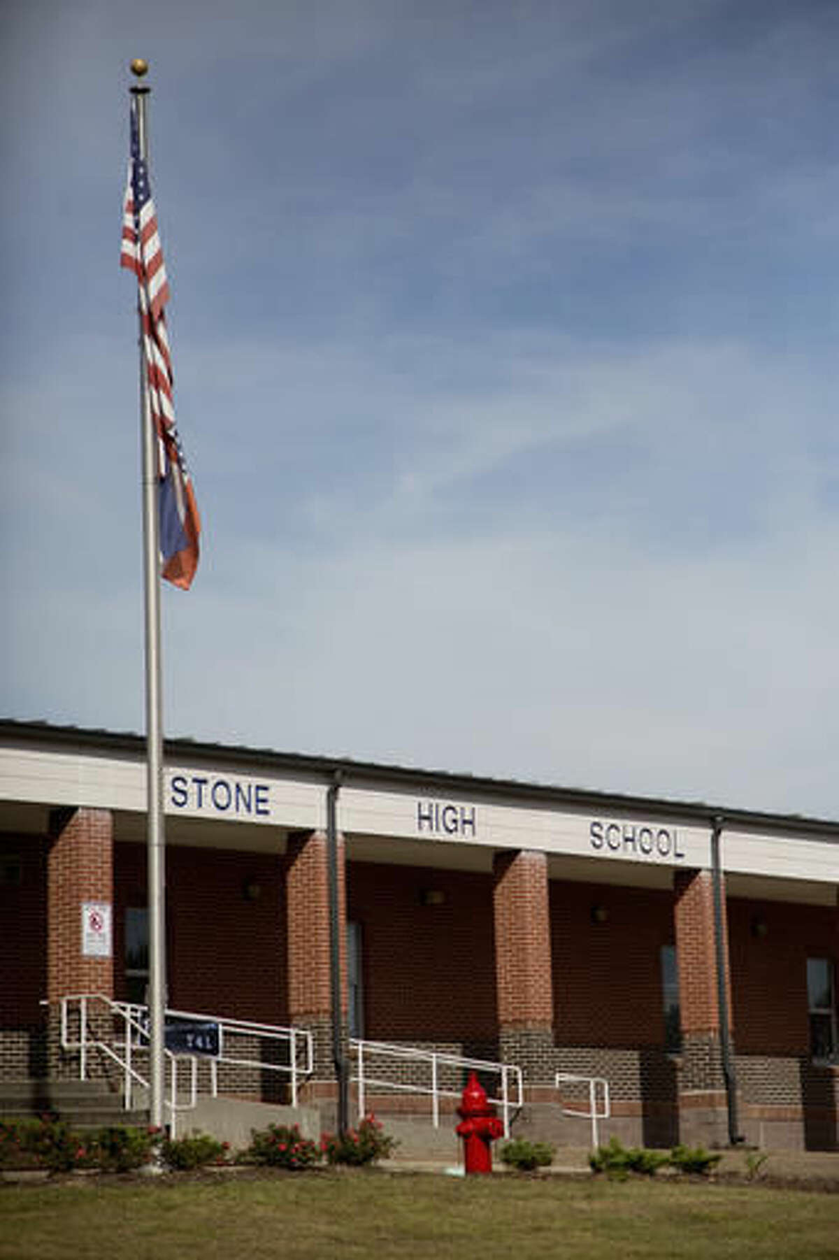 Stone County High School in Wiggins, Miss., is seen Monday, Oct. 24, 2016. The state NAACP says white students at Stone County High School threw a noose around the neck of a black student and
