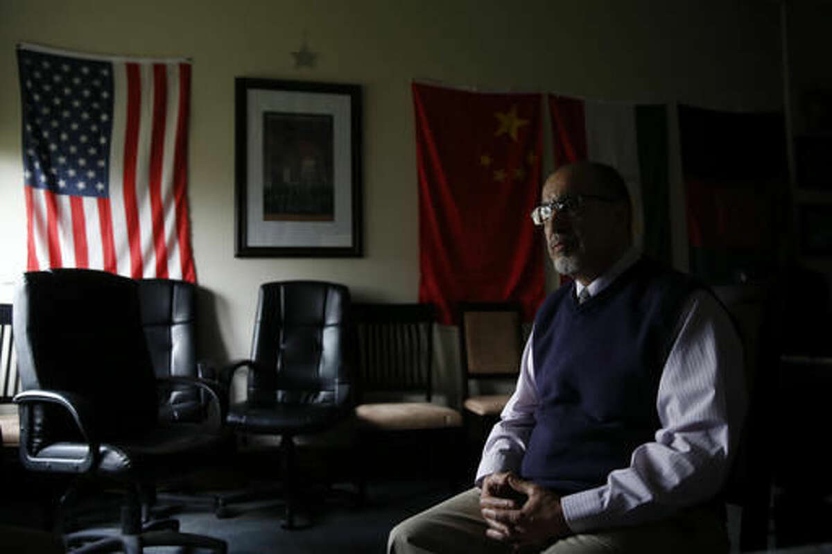 Samir Bitar, Arabic studies professor at the University of Montana, speaks during an interview on the campus in Missoula, Mont., on April 13, 2016. Bitar moved to Montana as a 16-year-old to attend college in Missoula and has been here for 42 years. But he says because of current anti-Muslim sentiments in the U.S., he feels threatened in a way he never has before. (AP Photo/Brennan Linsley)