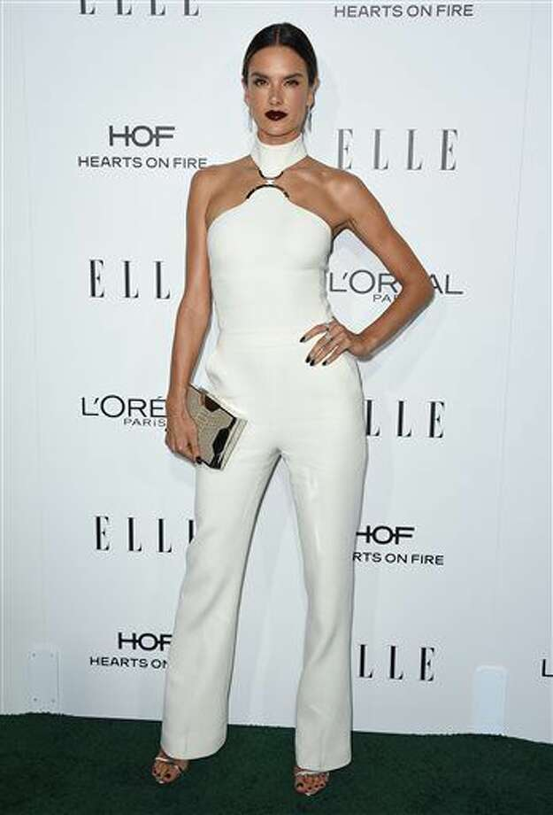 Alessandra Ambrosio arrives at the 23rd annual ELLE Women in Hollywood Awards at the Four Season Hotel on Monday, Oct. 24, 2016, in Los Angeles. (Photo by Jordan Strauss/Invision/AP)