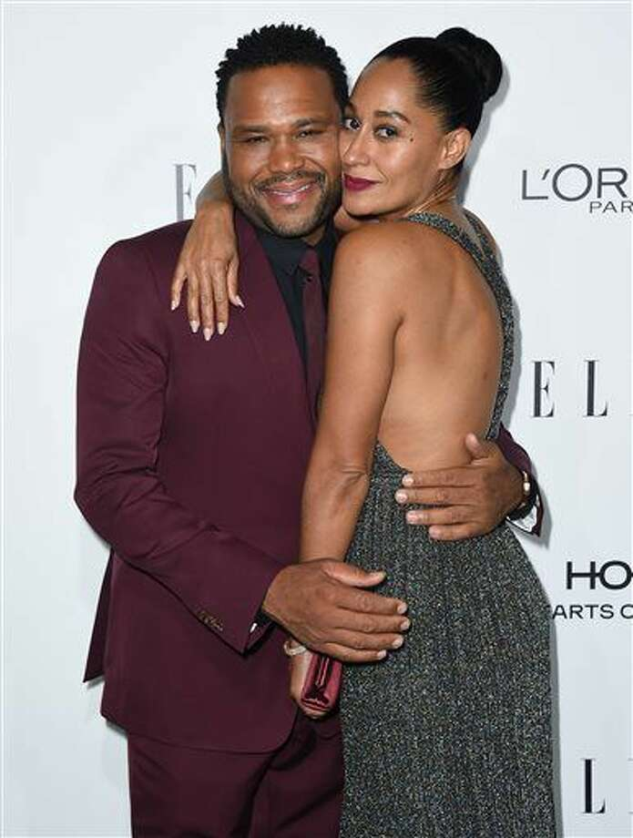 Anthony Anderson, left, and Tracee Ellis Ross arrive at the 23rd annual ELLE Women in Hollywood Awards at the Four Season Hotel on Monday, Oct. 24, 2016, in Los Angeles. (Photo by Jordan Strauss/Invision/AP)