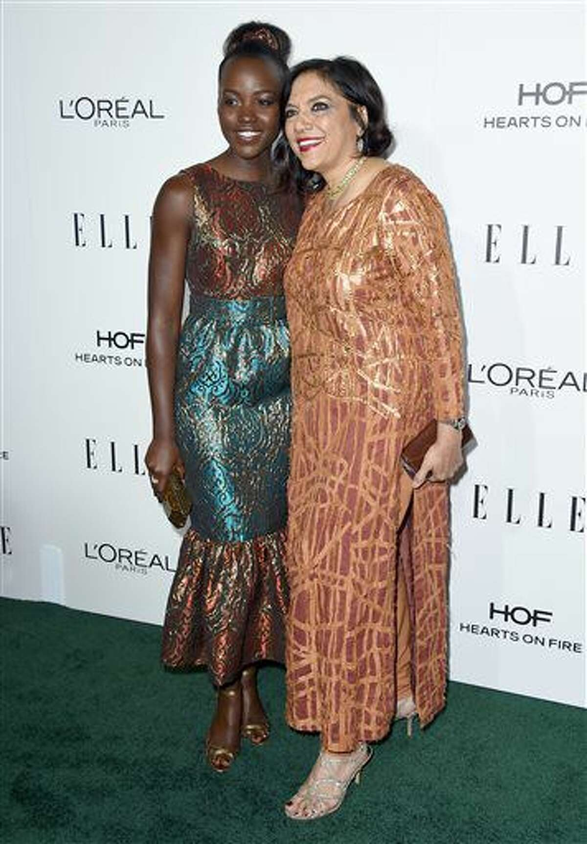 Lupita Nyong'o, left, and Mira Nair arrive at the 23rd annual ELLE Women in Hollywood Awards at the Four Season Hotel on Monday, Oct. 24, 2016, in Los Angeles. (Photo by Jordan Strauss/Invision/AP)