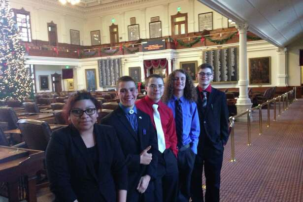 Dayton High School's debate team competed in the 6th Annual Capitol Congressional Debate Contest on Dec. 1. Pictured left to right are Vanessa Rangel, Ian Nichols, Wil Taylor, Jonathan Taylor and Trey Odom.