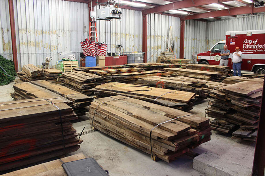 Twenty-two piles of wood were gathered from the site of the new public safety facility prior to construction. Both city officials and professional woodworkers will be using the wood for future city and community projects. Once the projects' plans are finalized, work is estimated to begin in January of 2017.