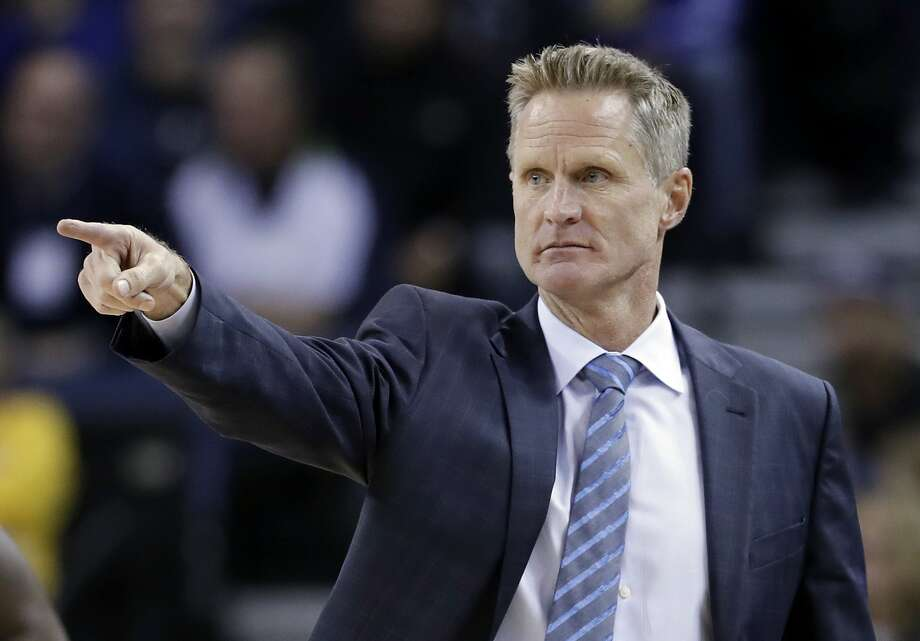 Golden State Warriors head coach Steve Kerr directs his team during the first half of an NBA basketball game against the Atlanta Hawks, Monday, Nov. 28, 2016, in Oakland, Calif. (AP Photo/Marcio Jose Sanchez) Photo: Marcio Jose Sanchez, Associated Press