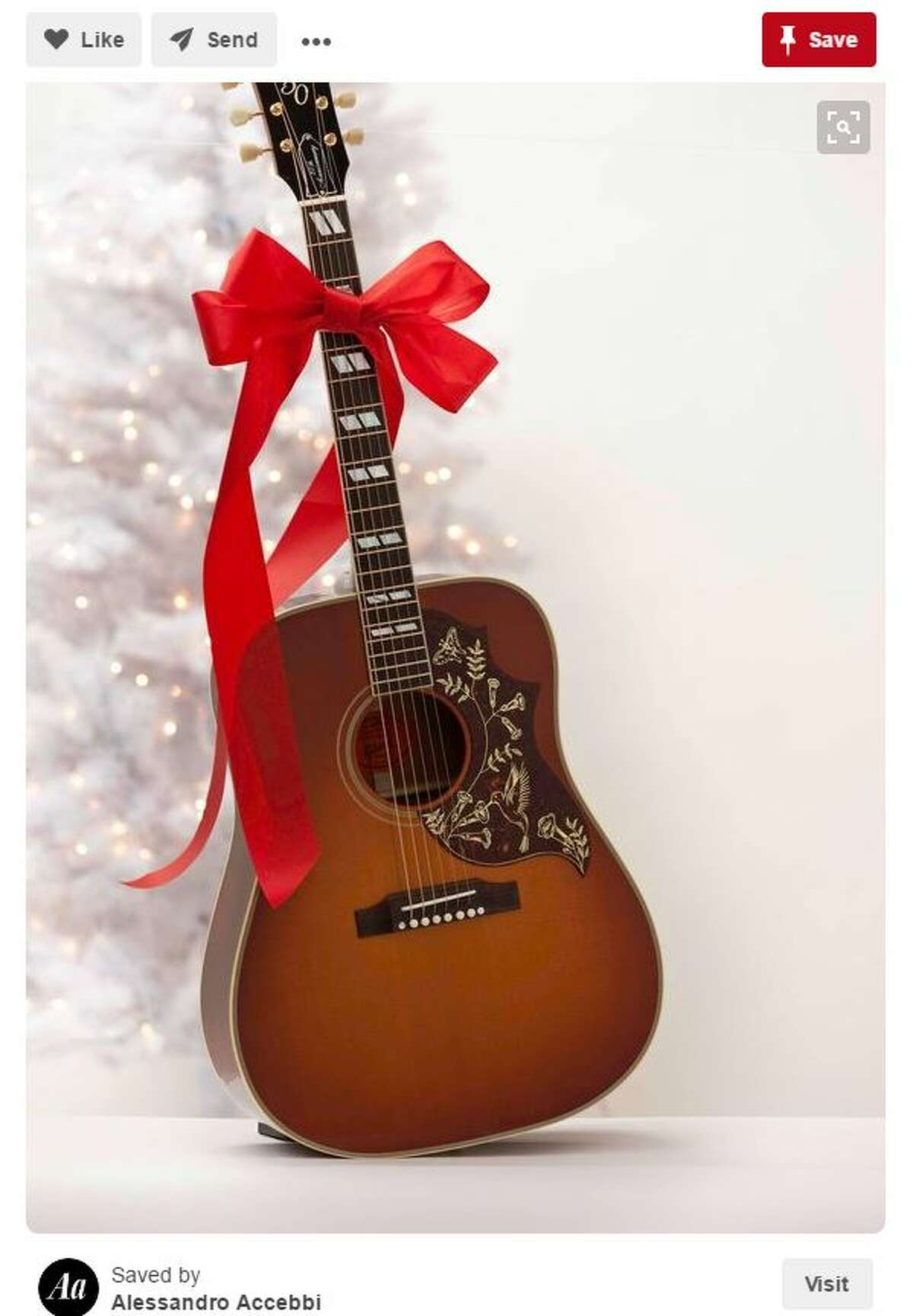 You probably asked Santa for a guitar so you could learn play like your favorite country singers, or your granddaddy. Photo: Pinterest