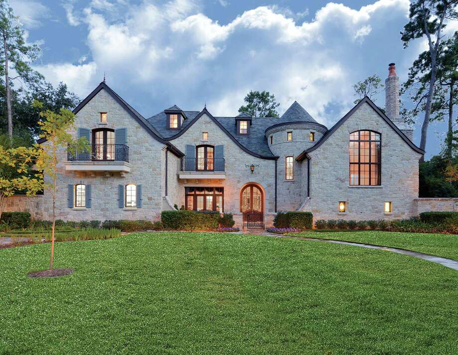 French Manor Style Home Overlooks Bayou In Hunters Creek