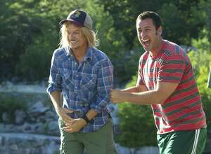 """Adam Sandler & Friends"" comes to Mohegan Sun Arena on Saturday, Dec. 10. Aside from Sandler, the night of comedy features David Spade, Rob Schneider and Nick Swardson. Sandler, right, is seen here with his pal, Spade, in a scene from Columbia Pictures' ""Grown Ups 2."""