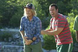 """""""Adam Sandler & Friends"""" comes to Mohegan Sun Arena on Saturday, Dec. 10. Aside from Sandler, the night of comedy features David Spade, Rob Schneider and Nick Swardson. Sandler, right, is seen here with his pal, Spade, in a scene from Columbia Pictures' """"Grown Ups 2."""""""